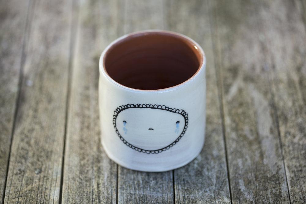 Crying Tea Cup. Isobel Higley.