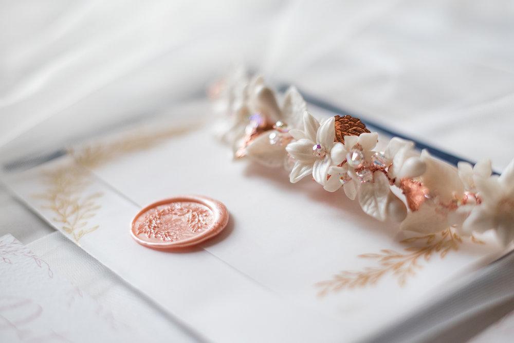 Photo by  Bond Photography  - Bridal accessories by  Rachel Sokhal Bridal