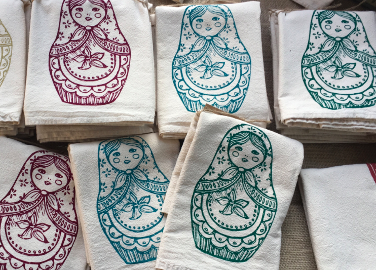 These matryoshka flour sack towels are a best-seller (and my go-to Christmas gift!)