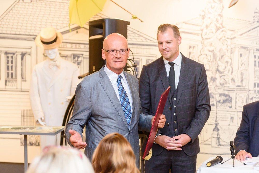 Wilhelm Fleischberger - Ehrenobmann (Verleihung am 13. 09. 2017)