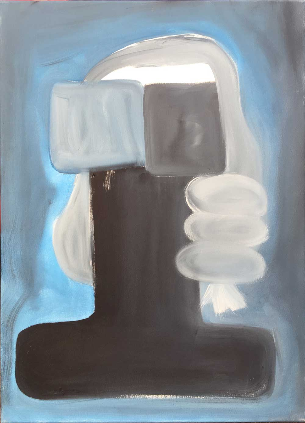 36. Ronald Kodritsch - Büste (Blau)2013Öl auf Leinwand66 x 47cmThanx to all for having supported solidarity matters ️