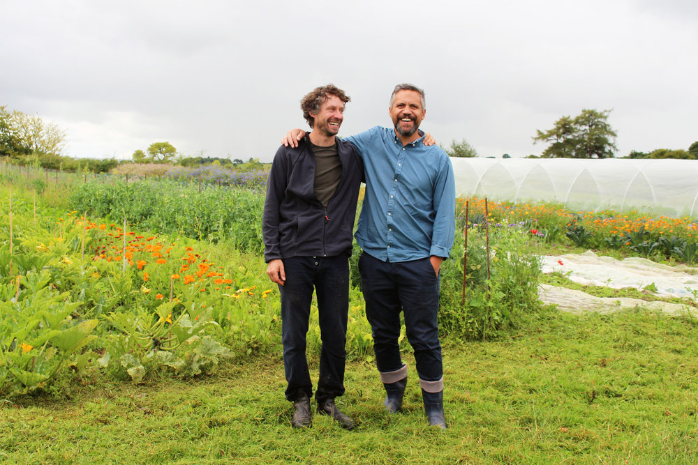 Kristin and Paddy Frankel at his organic farm in Mallow.