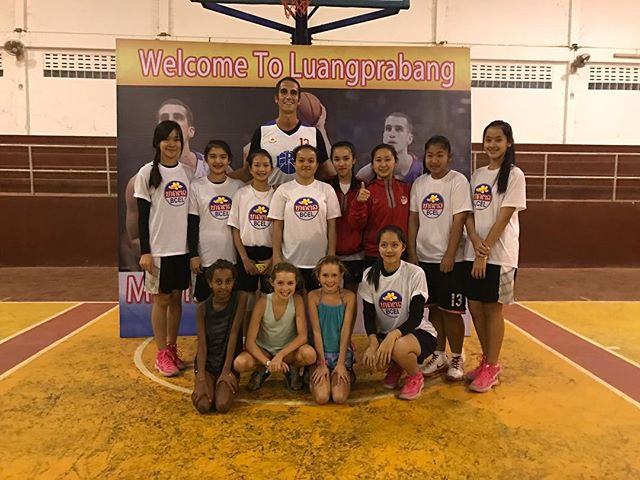 Great night in Luang Prabang, Laos sharing the game and court with this 16u girls team.