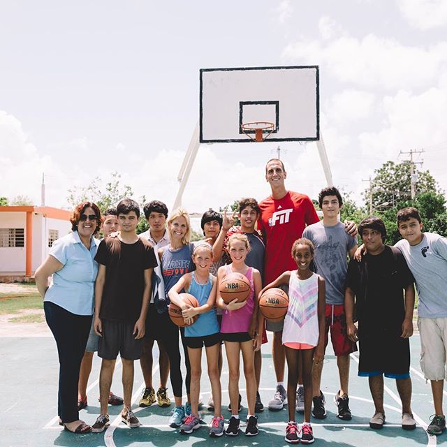 Great visit with these courageous young men from the CRIA Children's Home in Merida, Mexico. The children are between the ages of 13-18 and were full of energy as we did some basketball skill work, played full court games in 95 degrees, and ended with a great yoga class. We learned the boys have been placed into this caring facility, as they were either abandoned or abused in the home they grew up in but now have food, shelter and education provided daily thanks to the caring staff. We loved learning about this program here and will not forget this group! 🏀🙏🏼 📸: @rickyxwillis