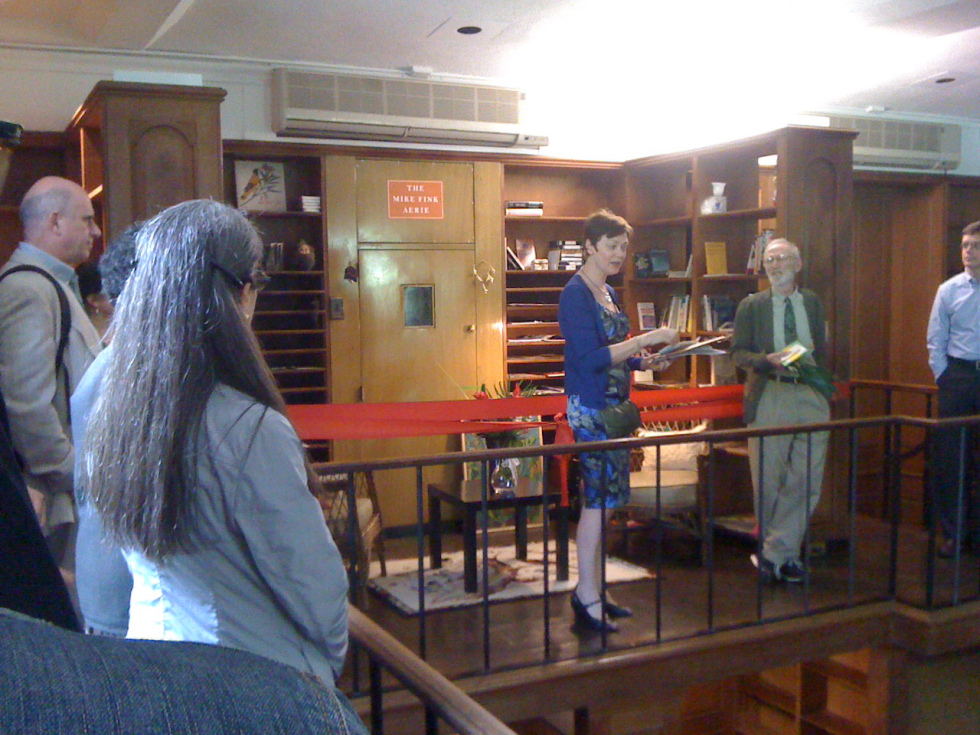 The Mike Fink Aerie ribbon-cutting ceremony, in the Old Library