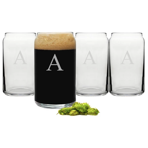 Initial Beer Glass