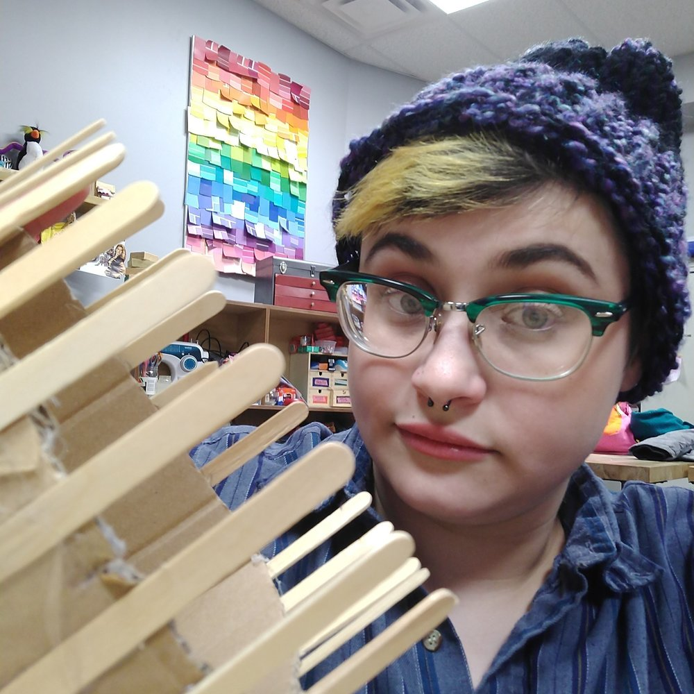 Grey Toft is the guru of all things DREAMlab. She holds a BA in studio art from the University of Pittsburgh. She has a passion for fiber-arts, education and cats. Contact her @ greytoft@gmail.com