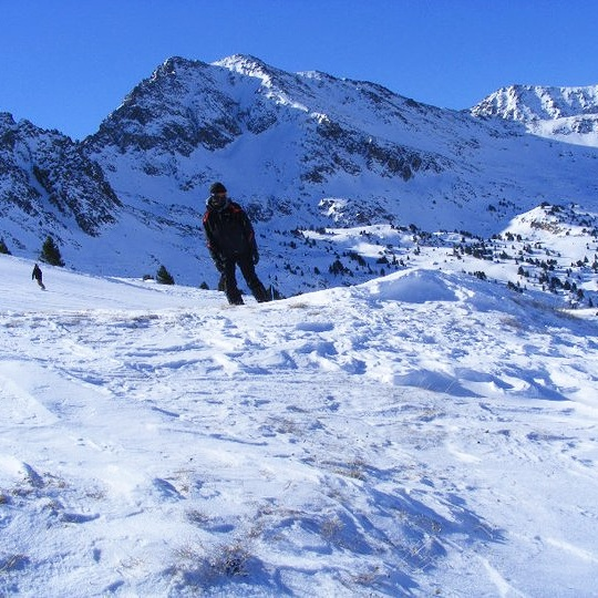 #55: snowboard down a mountain -