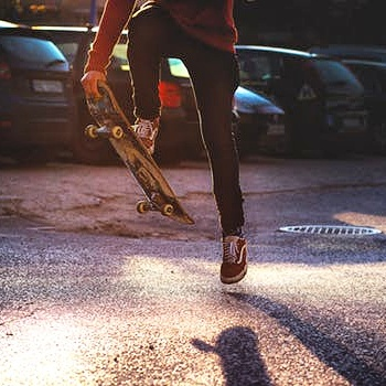 #6: 'kickflip' on a skateboard -