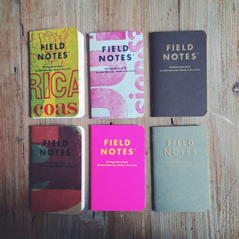 My current crop of active Field Notes.