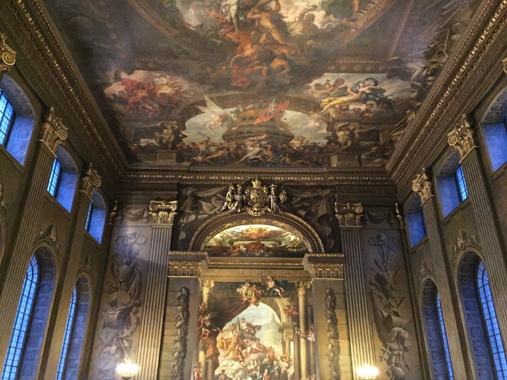 A terrible picture of The Painted Hall