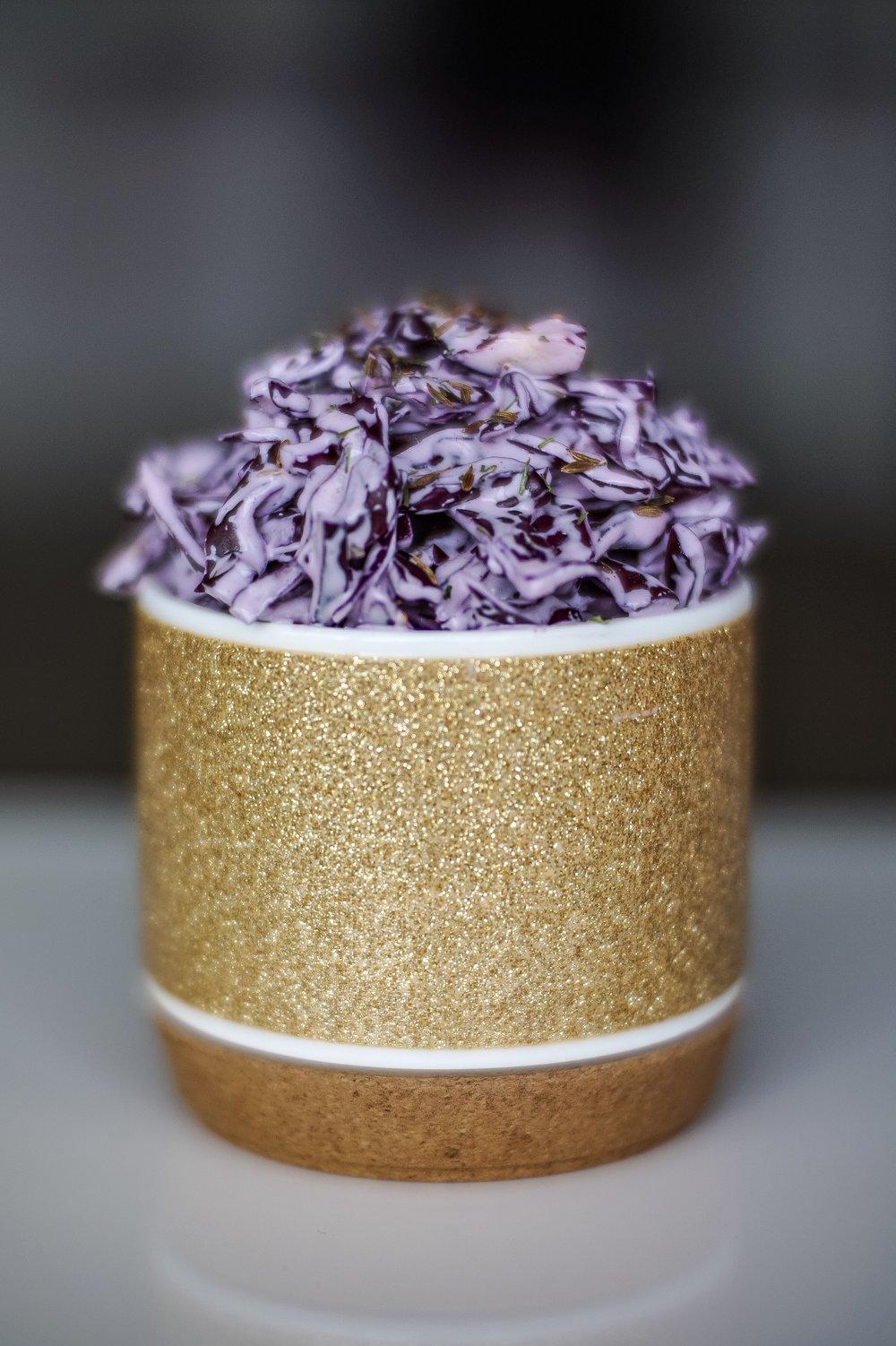 Coleslaw in a mug