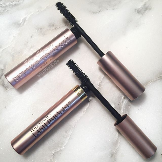 DUPE WARS: $7 vs. $23 mascara! See my thorough review at the link in my bio! If you're too lazy, here's a recap below! 🙃⠀ ✅ PROS:⠀ - hourglass-shaped wand (my fav) - drier formula doesn't leave mascara on lids - packaging and design ⠀ ❌ CONS:⠀ - wand bristles are too dense (hard to wiggle lashes in) - flakes after a few hours of wear ⠀ 🔔 VERDICT: ⠀ So is Lash Paradise a dupe? See full details at the link in bio. ⠀ ➖➖➖⠀ #glamgamestrong💪 ⠀ #glamgamestrong #makeup #eyes #mascara #review #beauty #instamakeup #fiercesociety #makeuplover #makeupjunkie #loreal #toofaced #motn #makeupmafia #beautyblogger #bblogger #lookamillion #dupe #temptalia #cosmetics #instabeauty #motd