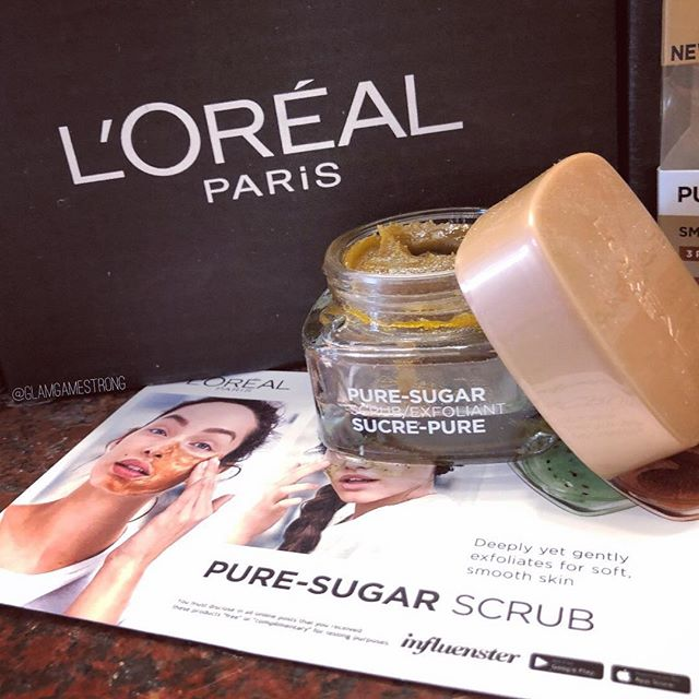 Did you receive this month's @lorealskin #PureSugarScrubs VoxBox from @influenster? I'm always skeptical to try drugstore skincare but this scrub left my face feeling smooth and glowy! I received this product #complimentary for review purposes. ⠀ ➖➖➖⠀ #glamgamestrong💪⠀ ⠀ #glamgamestrong #fiercesociety #makeup #wakeupandmakeup #bblogger #beauty #instamakeup #makeupjunkie #skin #banisher #muafollowtrain #banish #slave2beauty #skincare #lookamillion #acne #contest