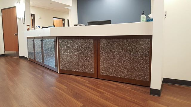 We are stoked about these glass panels with decorative film that we just installed in Detroit #officeinterior #interiordesign #furniture #studiocraft #architecture