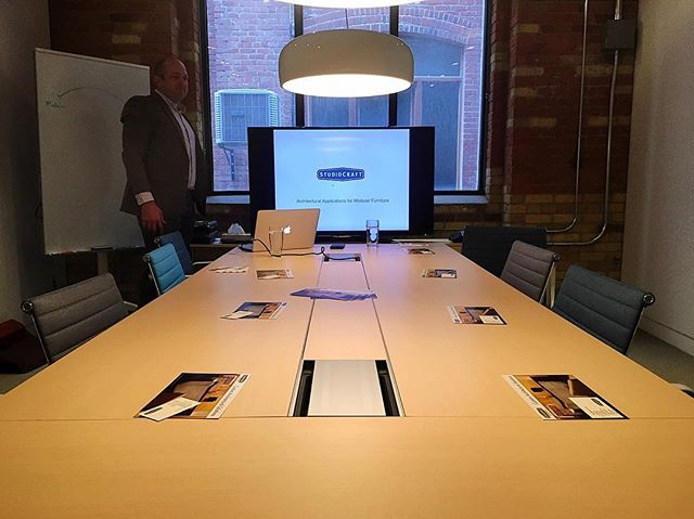 Prepping for a Lunch 'n' Learn at Workplace Resource Toronto today. Excited to share what we do with the team here! #custom #furniture #interiordesign #architecture #studiocraft #canada