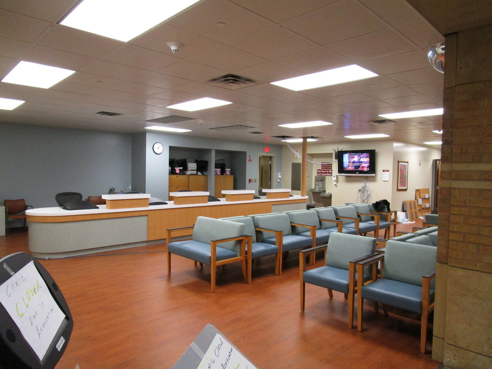 OBGYN Colorado - Warm reception desk facilitates welcoming, comfortable space. Read More