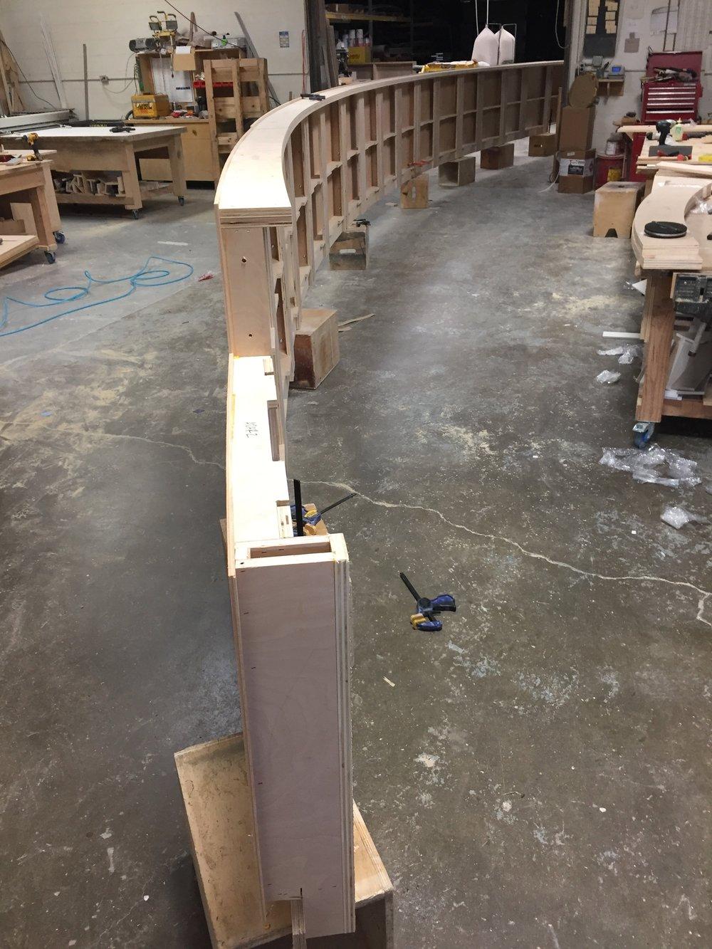 Curved Custom Millwork Fabrication