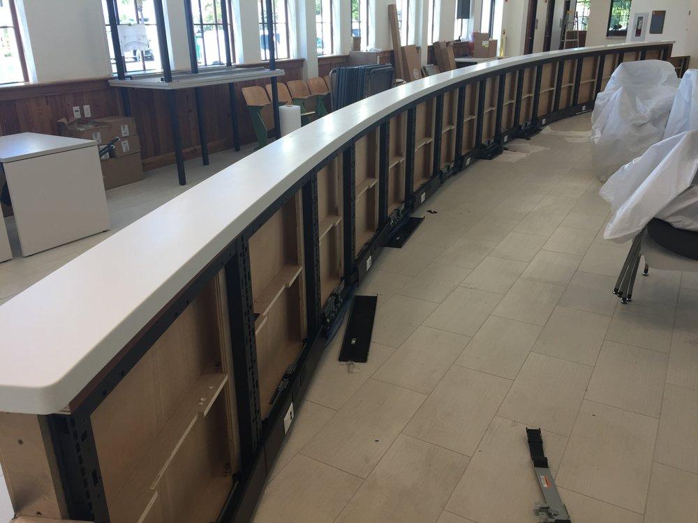 Curved Custom Reception Desk Key West City Hall