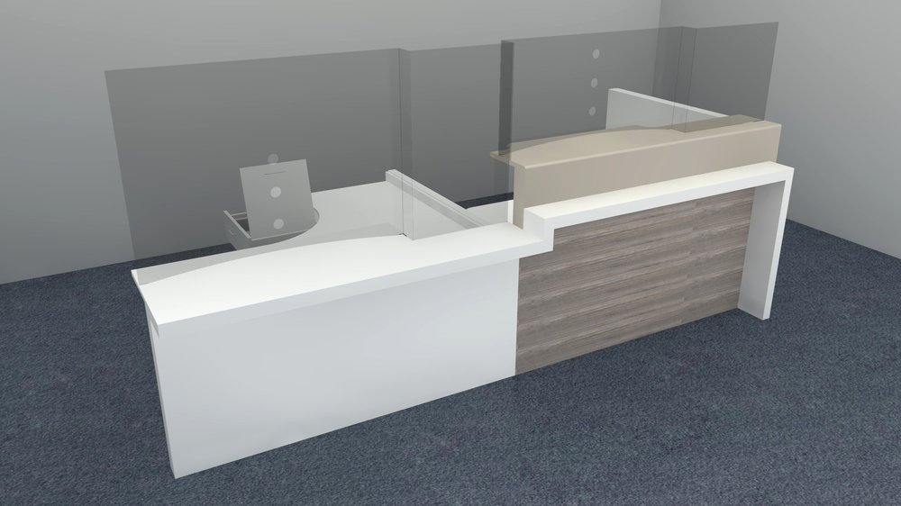 Reception Desk Rendering