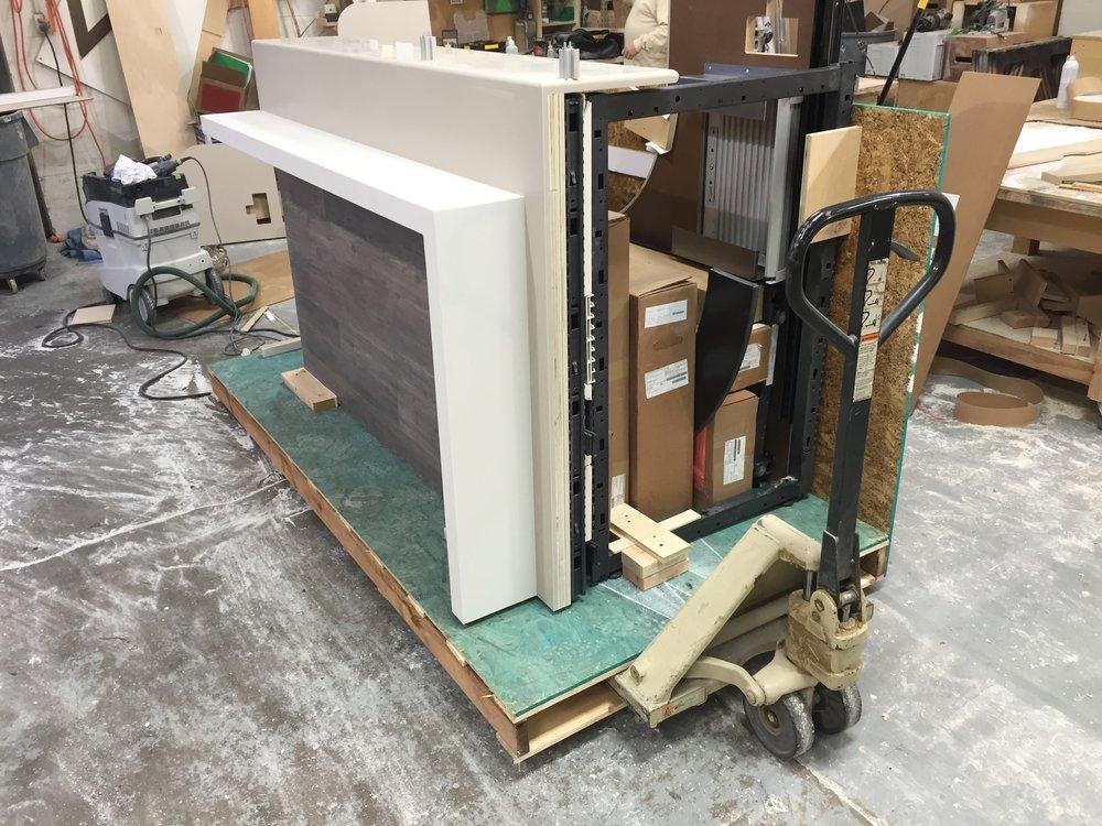 Custom Millwork Herman Miller Reception Desk