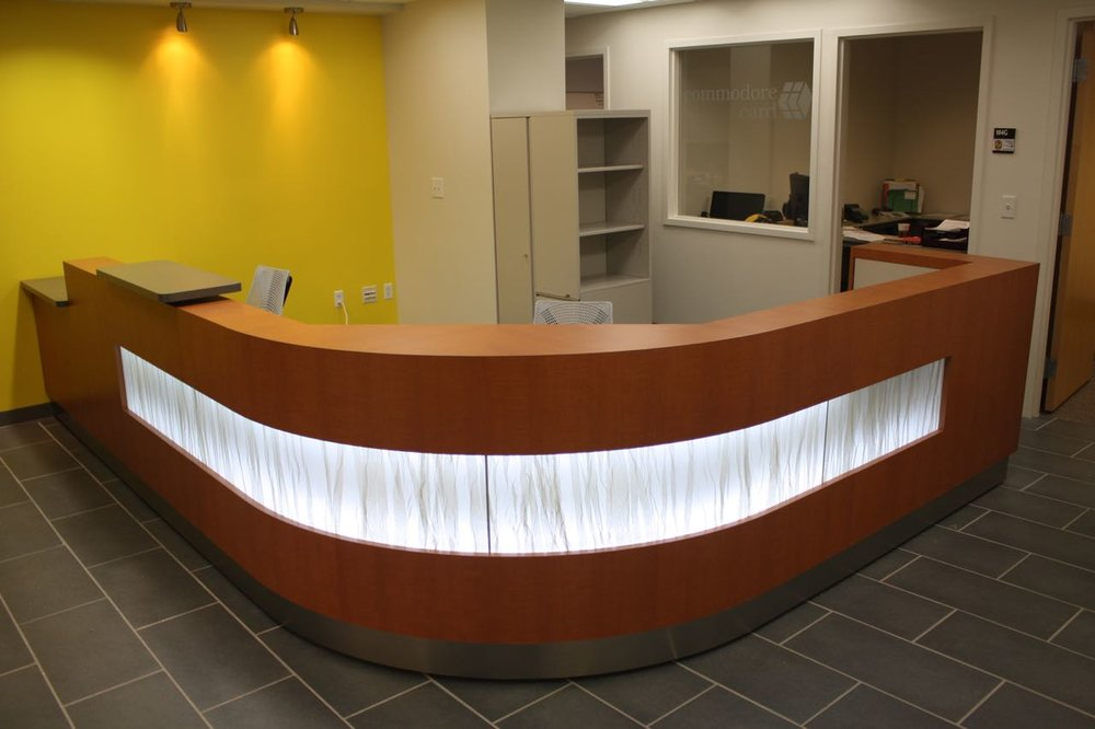 Custom Millwork Reception Desk Education