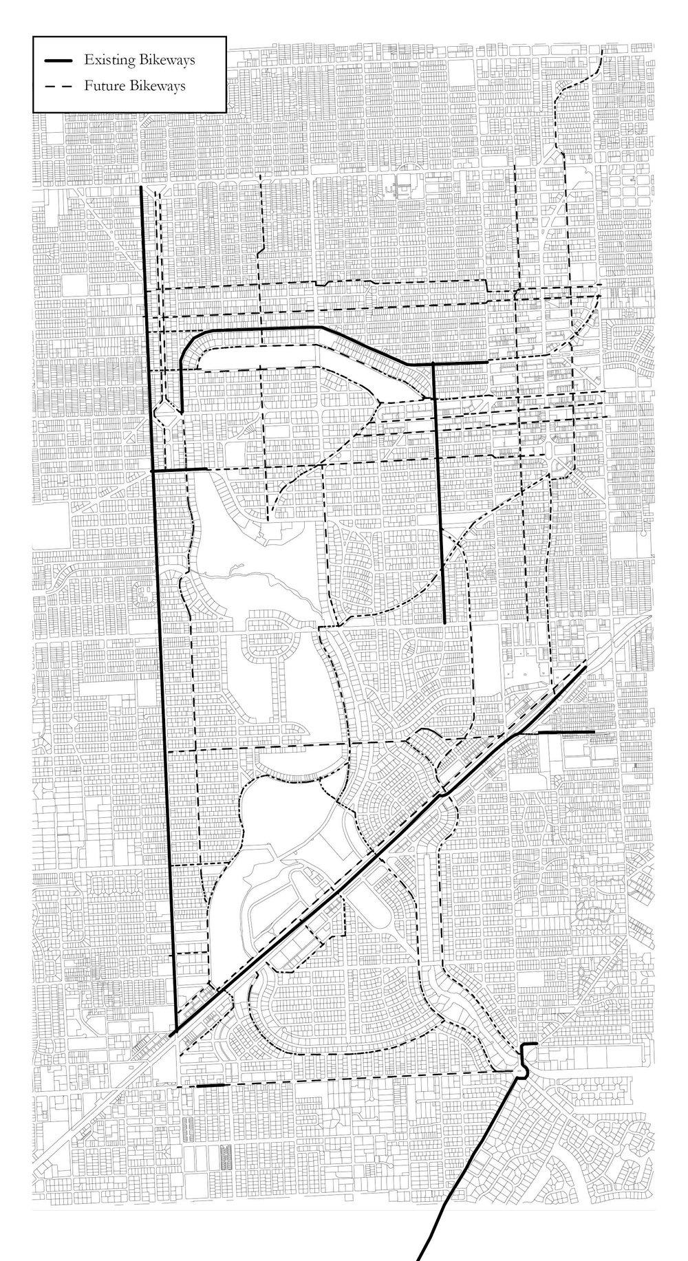 Future Bikeways from Bike & Pedestrian Master Plan