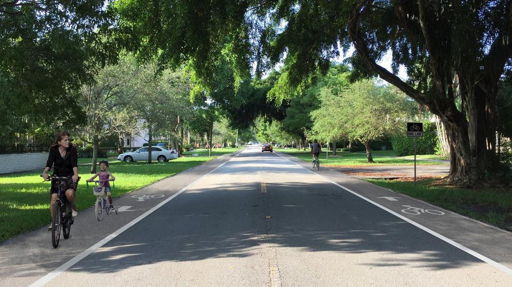 Riviera Street - Conventional Bike Lanes