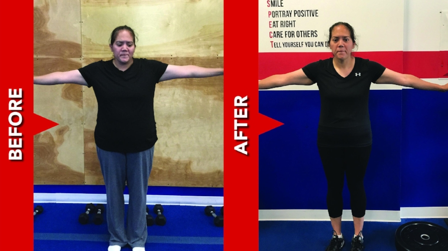 Andrea lost 41 in & 62.8 lbs