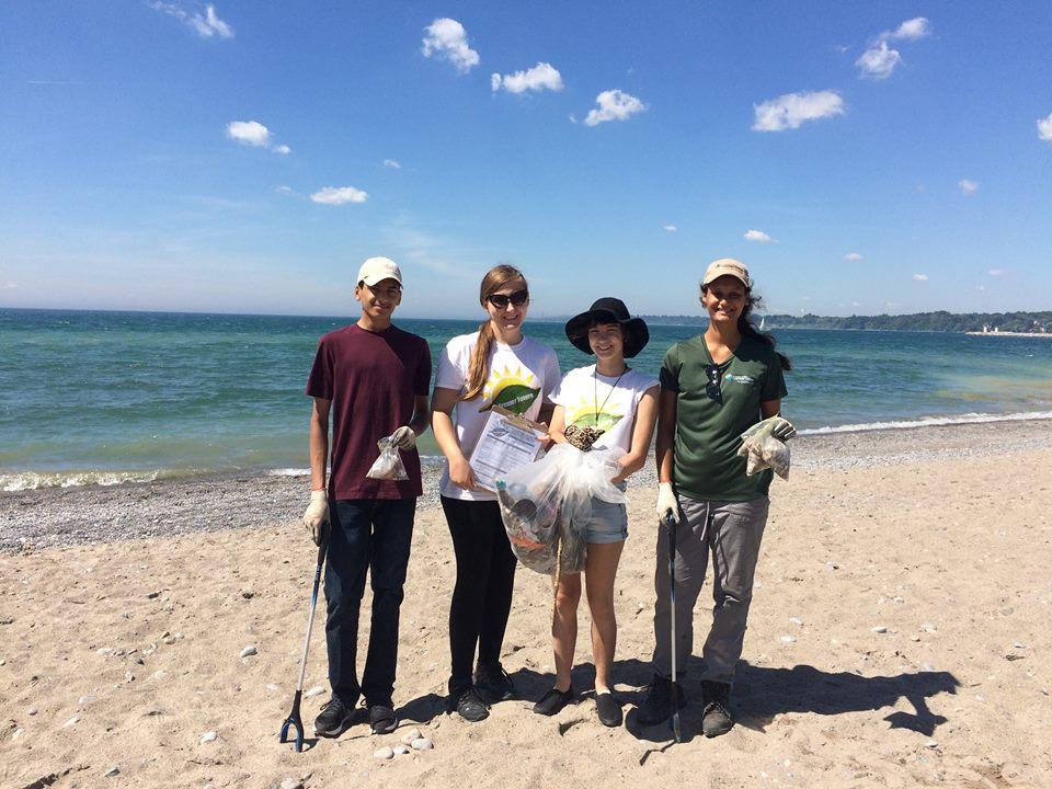 Beachfront Park in Pickering with TRCA volunteers.