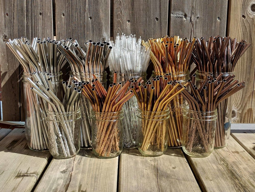 Stainless steel straws and straw cleaners
