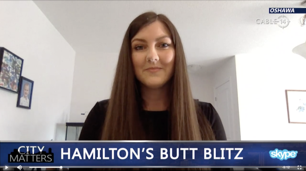 Rochelle Speaks on Cable 14's City Matters about the Hamilton Butt Blitz