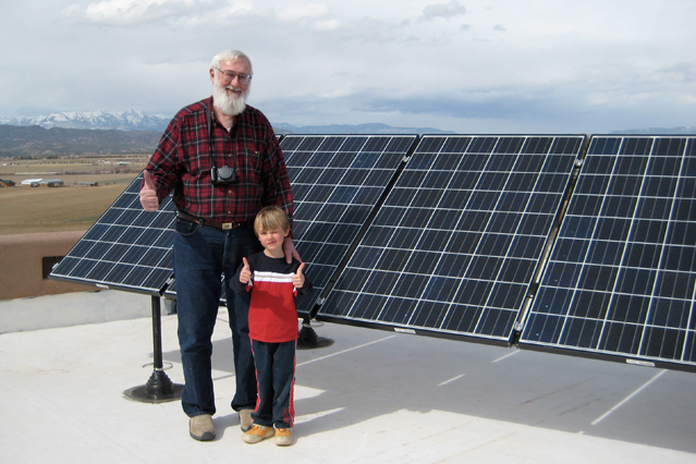 Frank Klein and Grandson after a successful installation.