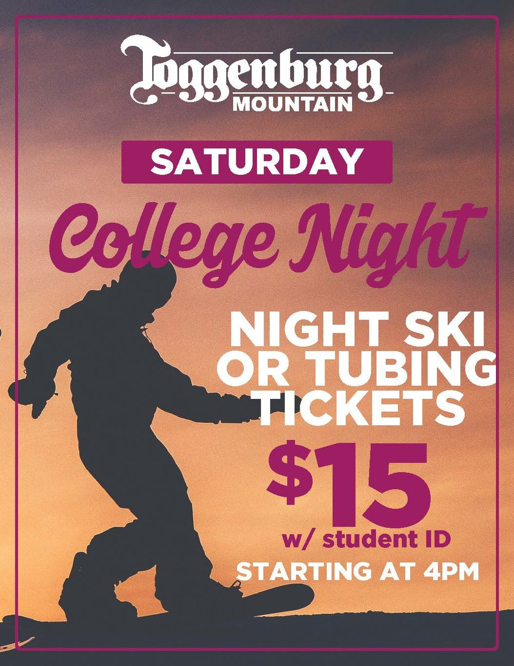 WHOOT WHOOT COLLEGE NIGHT! -