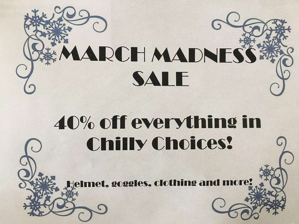 40% off SALE! - Come and see Jody for all your ski and ride gear!