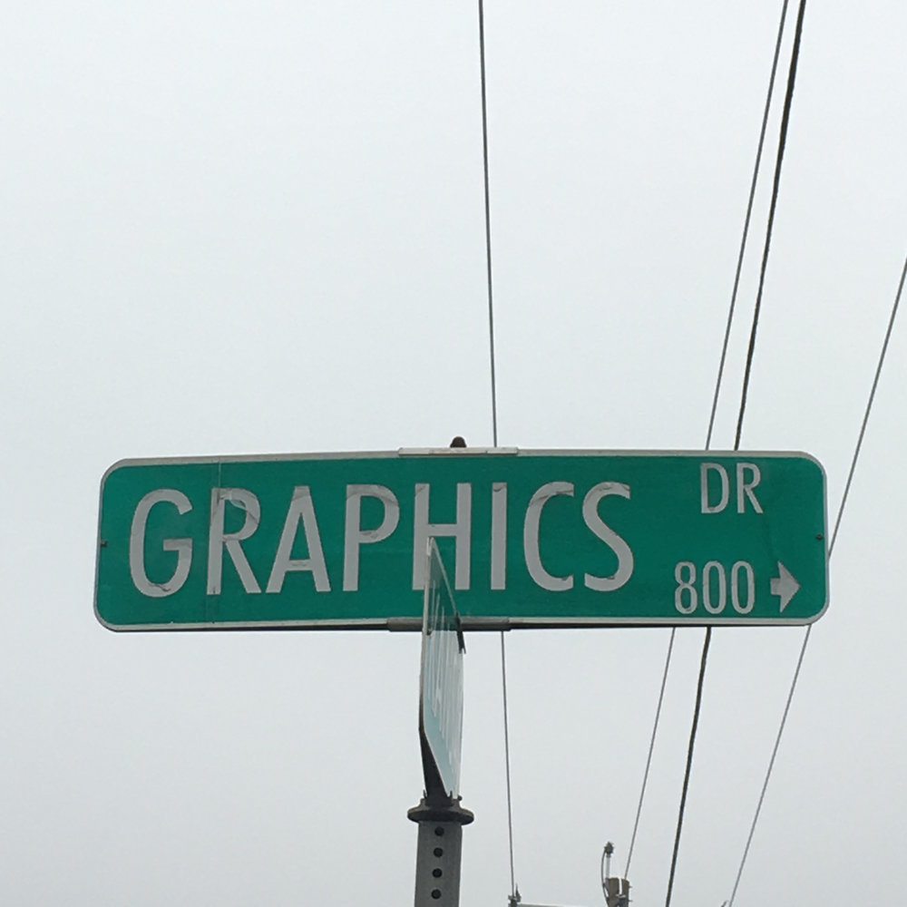 Modesto's Graphics Drive: A visual reminder of a graphic past - Many cities have celebrated design and iconic designers by renaming streets, squares and parks. Barcelona has the Plaça Gaudí. Rio de Janeiro has Estrada Roberto Burle Marx. New York has Fashion Avenue and Oscar de la Renta Boulevard.Imagine my excitement the first time I came upon Graphics Drive in Modesto. How cool that we also have a street that celebrates design! Well, sort of.