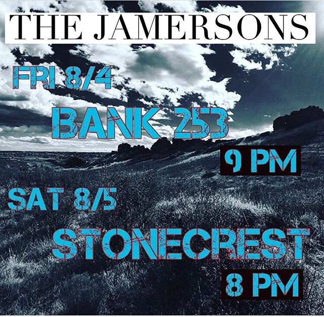 Half of the Jamersons will be playin in Pikeville and Prestonsburg this weekend. Before the show at Bank , I will also be at the night market in Elkhorn starting at 830. Hope to see some of y'all out and about.