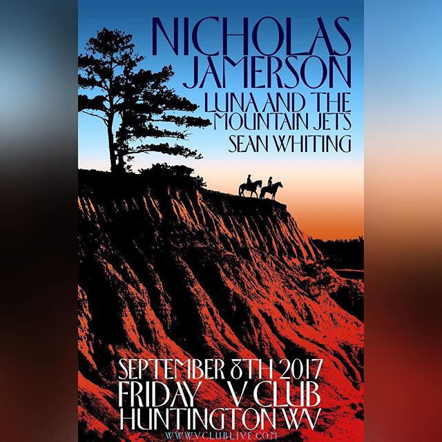 Huntington! I'll be at the @vclubwv September 8th with some of my favorite artists/people in this world. Come see me @lunaandthemountainjets and @swhiting76 . Tell your friends.