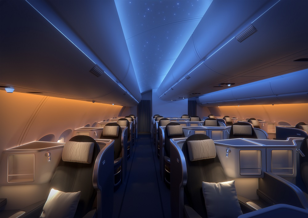 Example of lighting on an aircraft