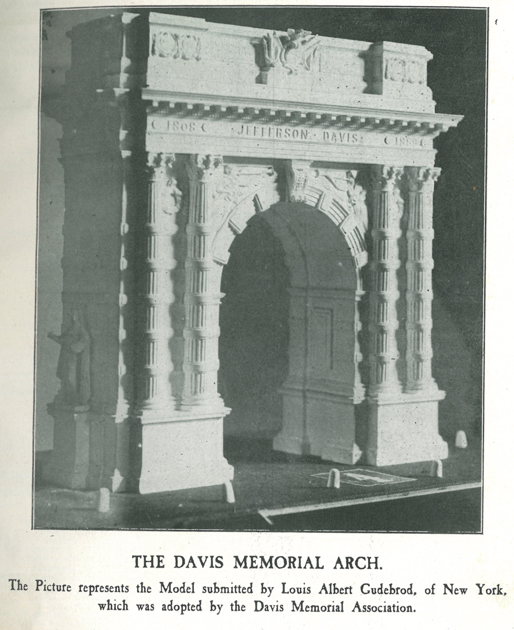Proposed Jefferson Davis Memorial arch for Broad Street