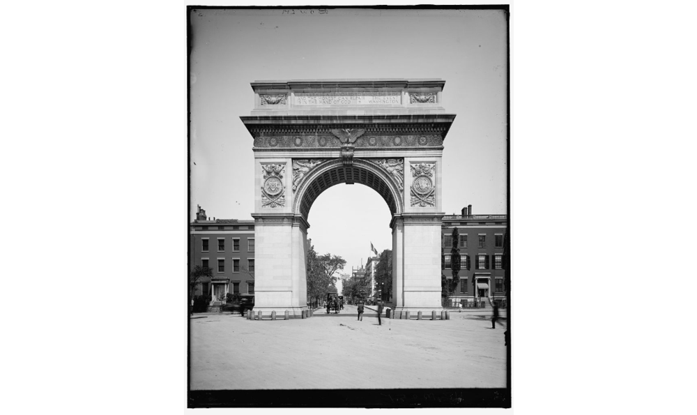 Stanford White,  Washington Memorial Arch , 1895, New York City. Detroit Publishing Company, Library of Congress Prints and Photographs Division
