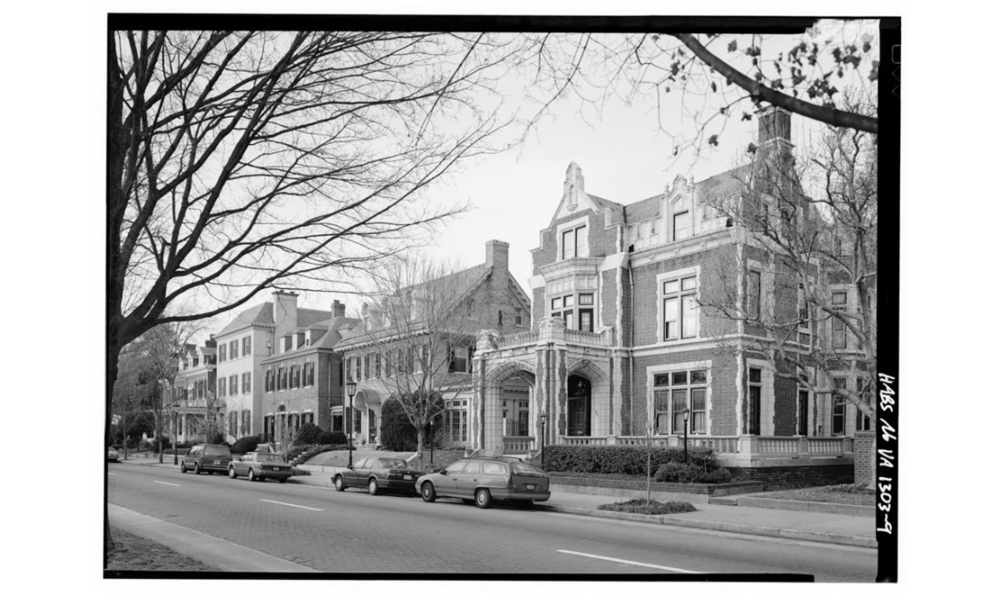 2300 Block of Monument Avenue from Historic American Buildings Survey, c. 1933, Library of Congress Prints and Photographs Division