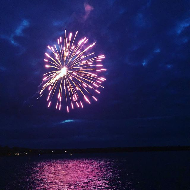 Fireworks at Privateer Days, Liverpool, NS. @regionofqueens  @privateerdays  #festivals #summer #fireworks #thatsawrap
