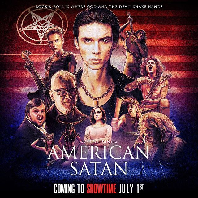 We are incredibly proud to let you know that... American Satan is coming to @SHOWTIME July 1st! As one of our favorite networks, we are beyond thrilled 🤘🏻🤓🤘🏻If you're in the UK, you can watch it now on SKY! Vinyl and CDs for The Relentless album and the Soundtrack are also now live on americansatanmovie.com for preorder. #AmericanSatan #Showtime #ShowtimeShowcase
