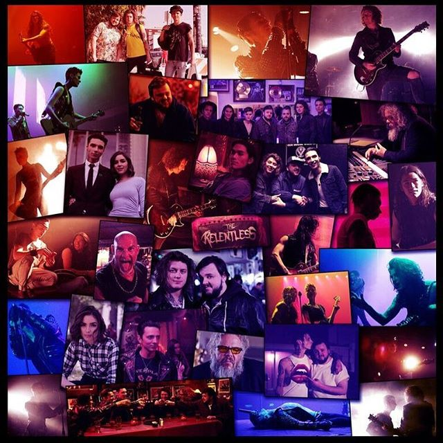 Only place to get this collage is inside the physical Vinyl or CD of The Relentless album :) americansatanmovie.com