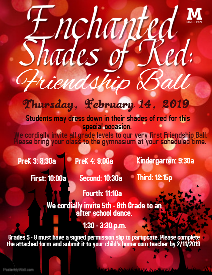 Click here for the Permission Slip for the after school ball for 5th, 6th, and invited 7th-8th graders!