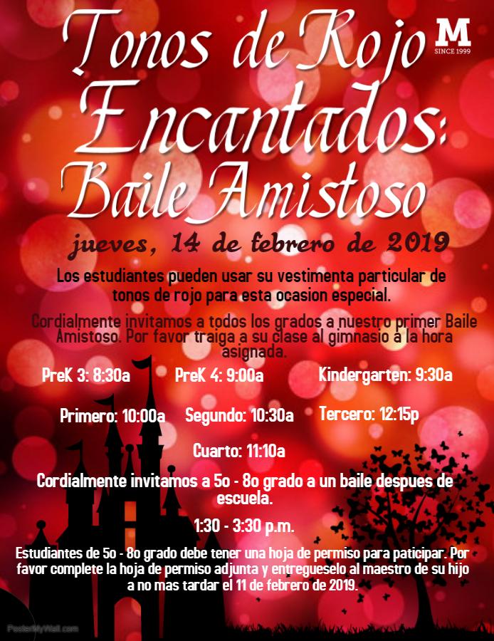 Haga clic aquí para obtener la hoja de permiso para el baile después de la escuela para los estudiantes de 5º, 6º e invitados de 7º a 8º grado.
