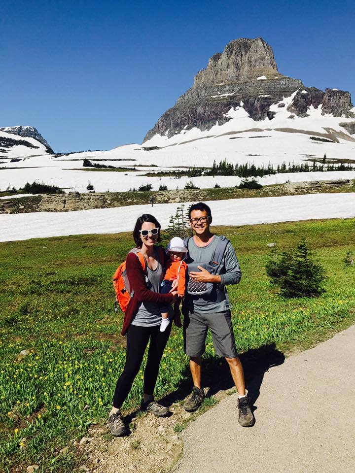 So much snow at Logan Pass.