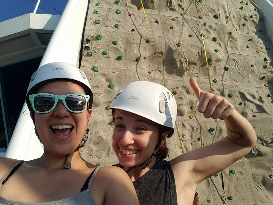 Rock climbing is a great way to burn off all my buffet overindulgence.