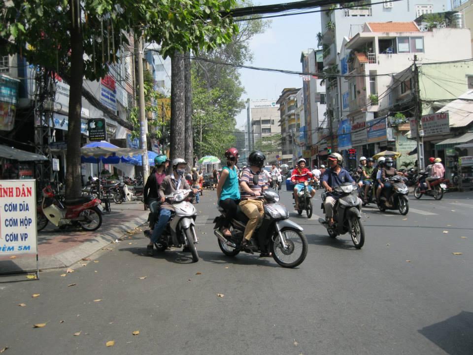 motorcycle traffic in saigon